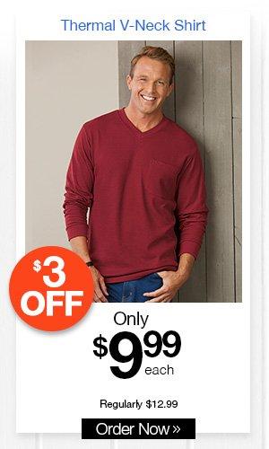 Thermal V-Neck Shirt