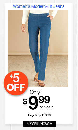 Modern-Fit Jeans with Spandex