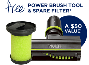 FREE Power Brush Tool & Spare Filter*