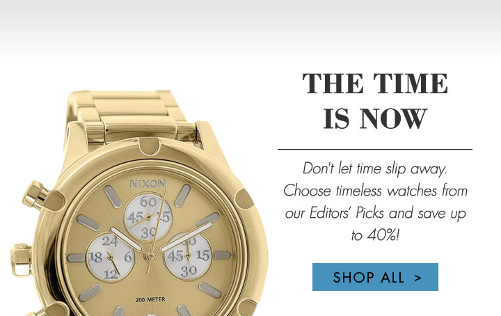 STOP the Clock, it Saving Time! Shop Designer Watches at Discount Prices!
