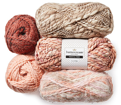 Buttercream Luxe Craft Yarns.