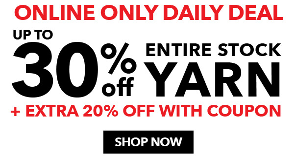 Up to 30% off Yarn.