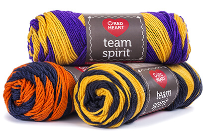 Red Heart Team Spirit Yarn.