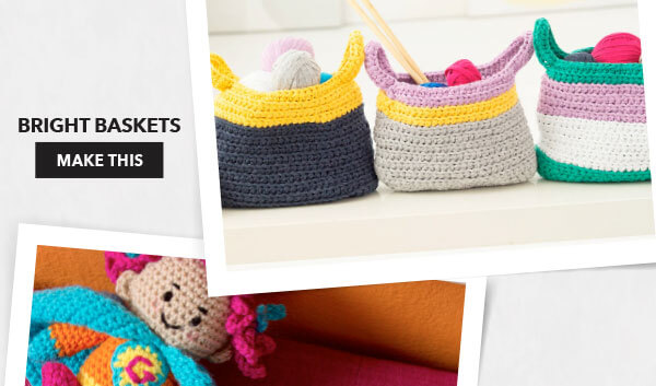 Bright Baskets. MAKE THIS.