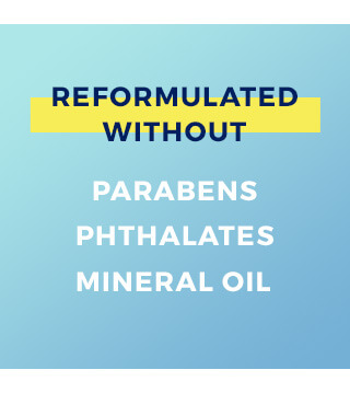 Reformulated without parabens, phthalates, or mineral oil