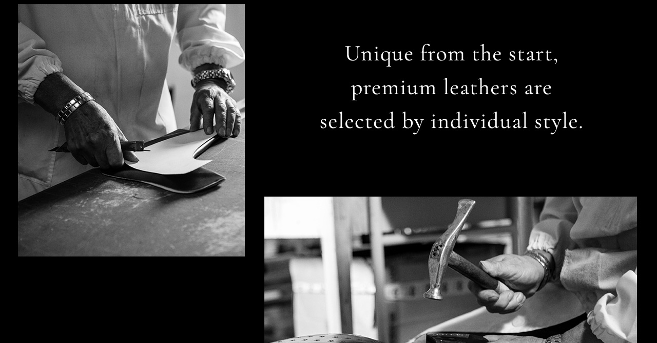 Premium leathers are selected by individual style.