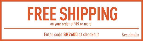 Sportsman's Guide's Free Standard Shipping on Your Merchandise order of $49 or More! Enter coupon code SH2600 at check-out. *Exclusions apply, see details.