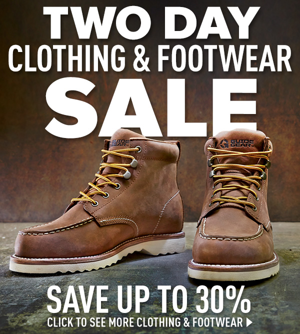 Two Day Clothing & Footwear Sale! Up to 30% Off!