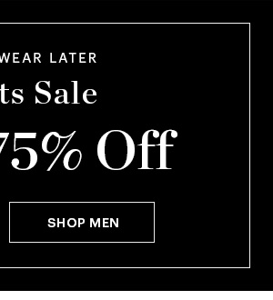 MEN'S GO NUTS SALE, UP TO 75% OFF, SHOP NOW