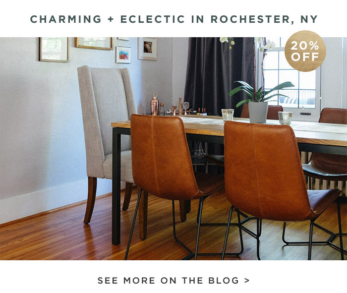CHARMING + ECLECTIC IN ROCHESTER, NY. SEE MORE ON THE BLOG