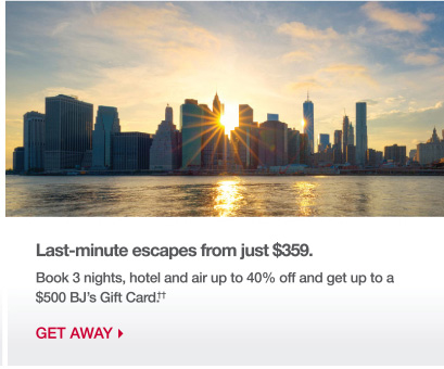 Last-minute escapes from just $359