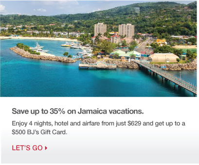 Save up to 35% on Jamaica Vacations