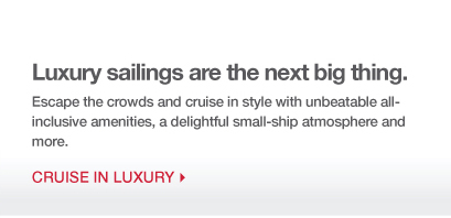 Luxury Sailings are the next big thing
