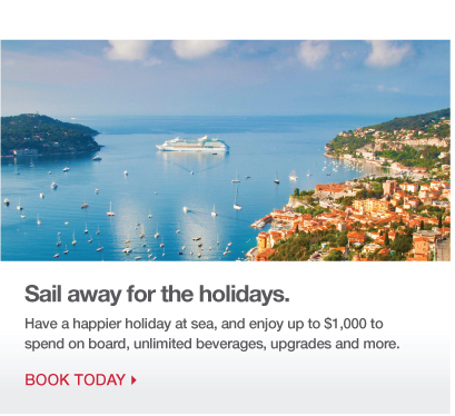 Sail away for the holidays