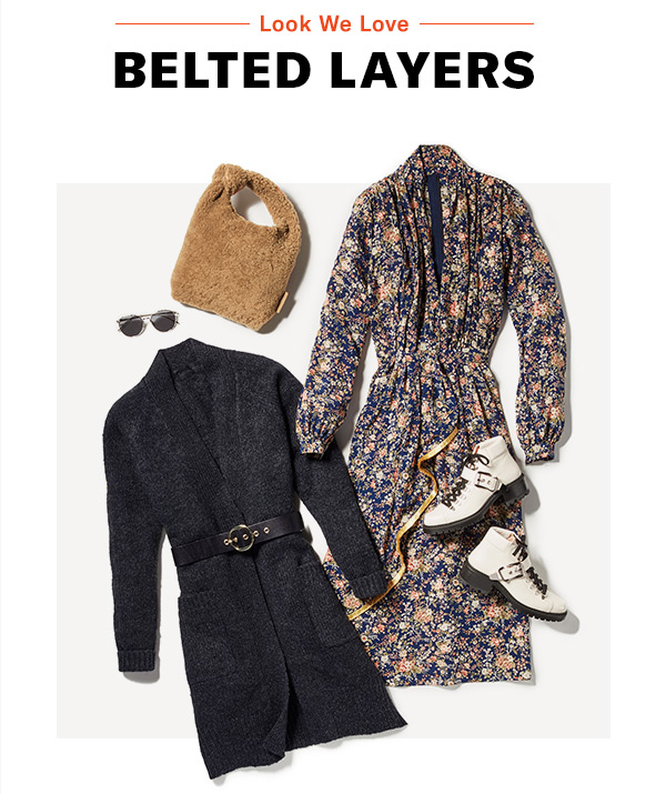 Look We Love: Belted Layers - Our favorite cozy-cool outfit formula (it's a cinch!)