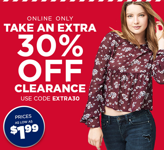 Extra 30% Off Clearance Use Code: EXTRA30 Shop Girls