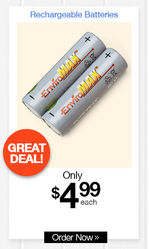 EnviroMax? Rechargeable Batteries