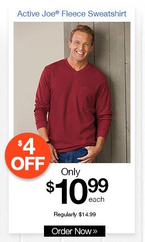 Active Joe 3 pocket Fleece Sweatshirt