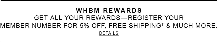 WHBM Rewards Program