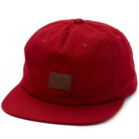 Brixton Grade II UC Snapback Hat - Burgundy