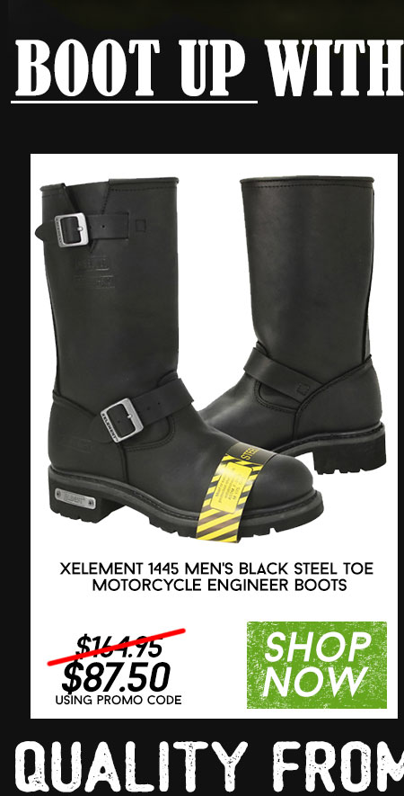 Shop Xelement 1445 Mens Black Steel Toe Boots