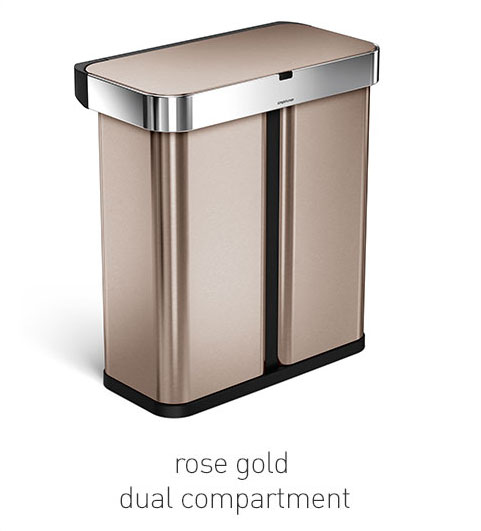 rose gold dual compartment