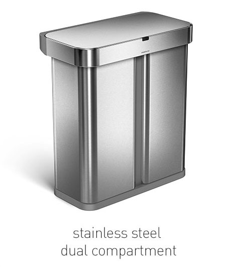 stainless steel dual compartment