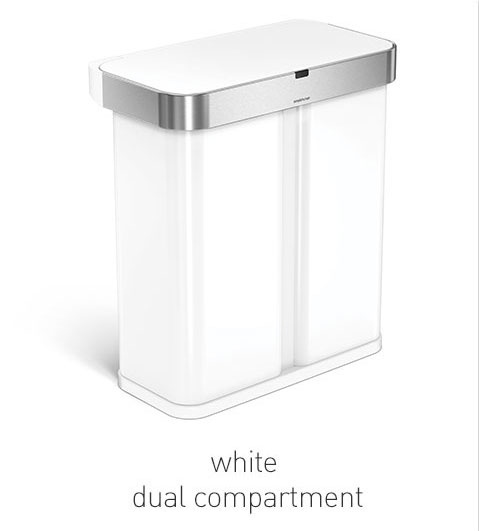 white dual compartment