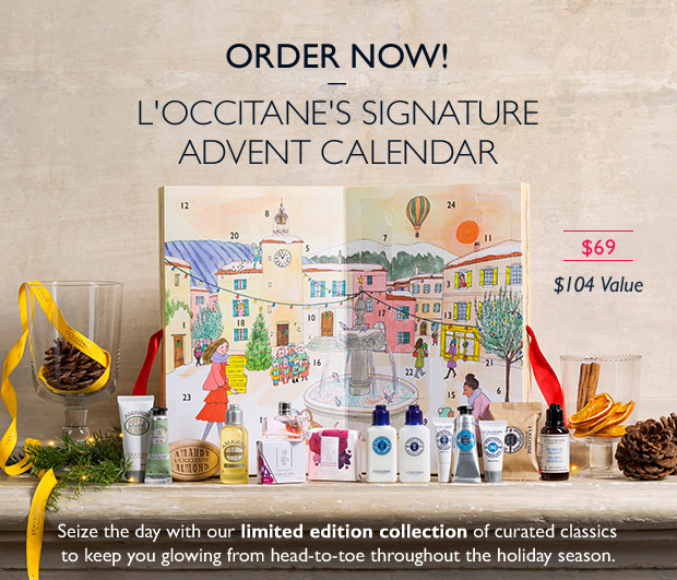 L'Occitane's Signature Advent Calendar. ORDER NOW.