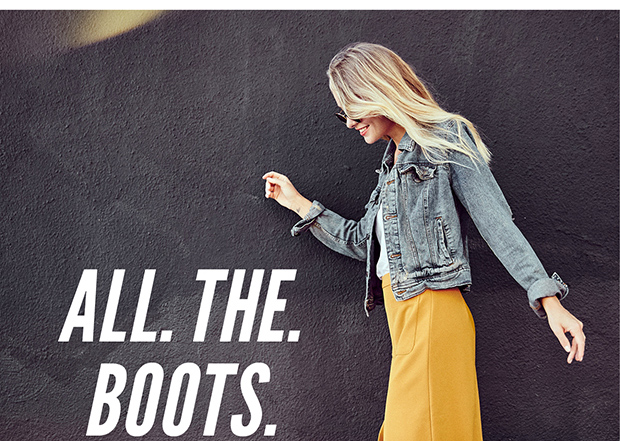 ALL. THE. BOOTS.