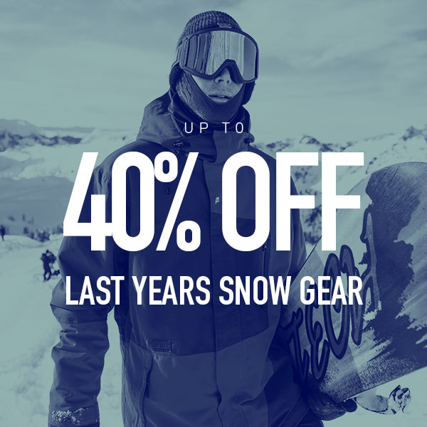 Up to 40% Off Last Years Snow Gear