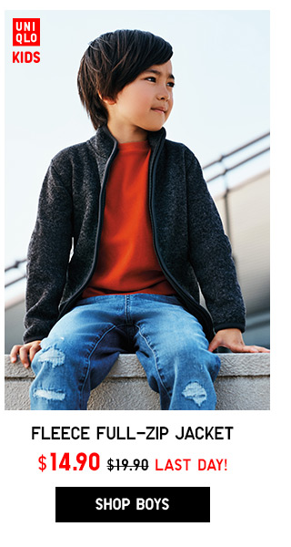 Boys Fleece Jacket NOW $14.90 - Shop Boys