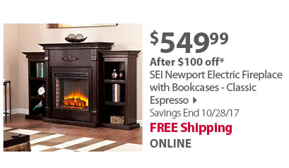 SEI  Electric Fireplace - espresso