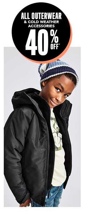 All Outerwear & Cold Weather Accessories 40% Off