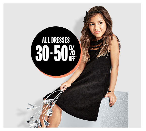 All Dresses 30-50% Off