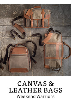 Canvas & Leather Bags. Weekend Warriors.