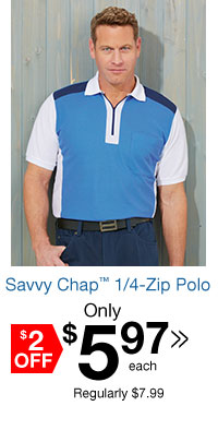 Savvy Chap? 1/4 Zip Polo