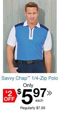Savvy Chap? 1/4 Zip Polo
