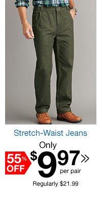 Stretch-Waist Jeans