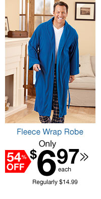 Fleece Wrap Robe