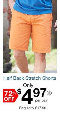 Half Back Stretch Shorts