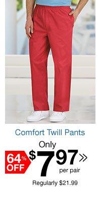 Comfort Twill Pants