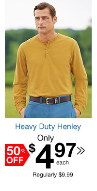 Heavy Duty Henley