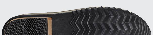 Detail of vulcanized rubber outsole.