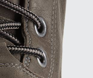 Detail of boot laces.