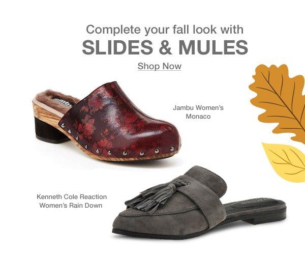 Shop Slides & Mules