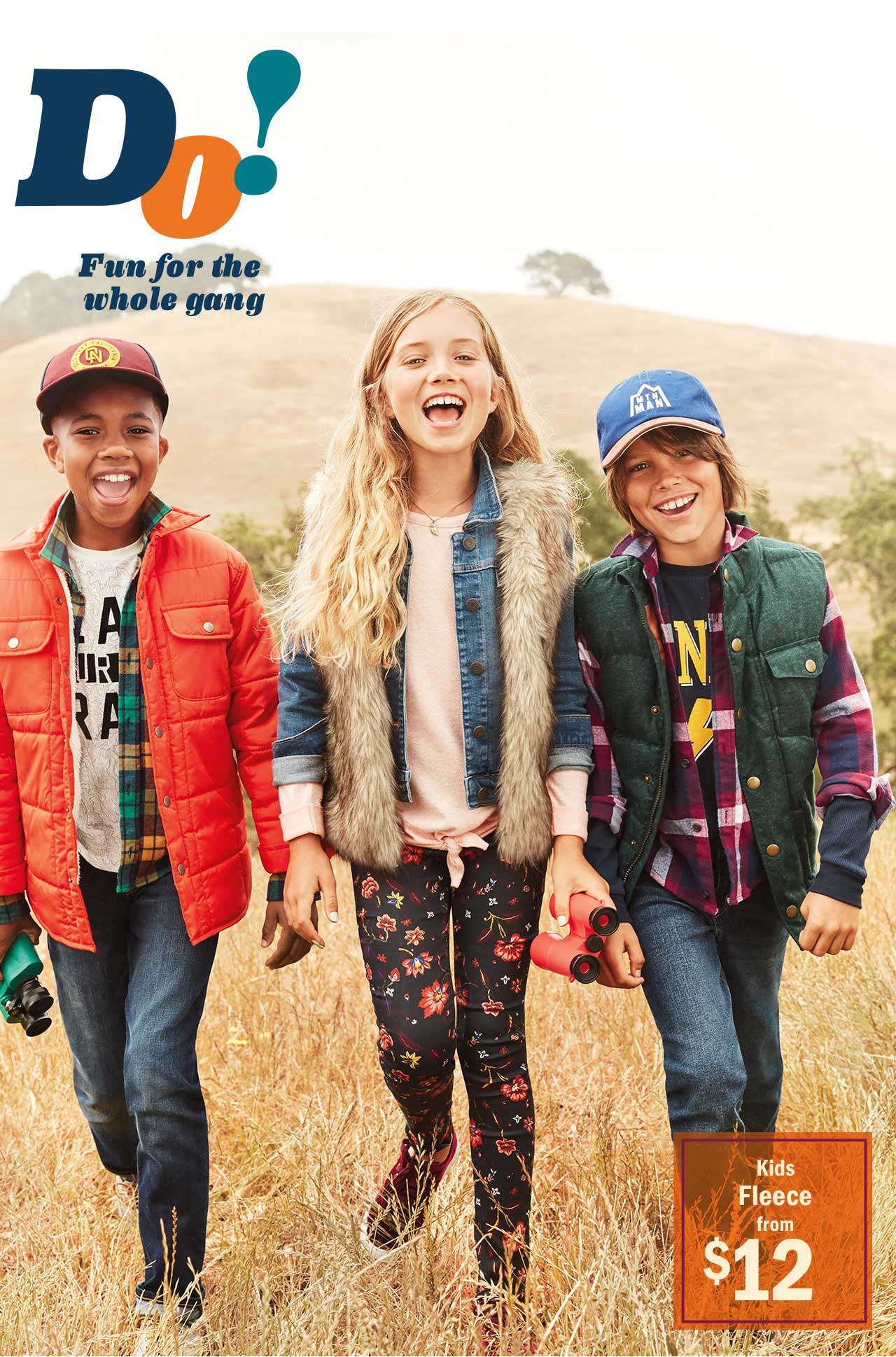 Do! Fun for the whole gang | Kids Fleece from $12