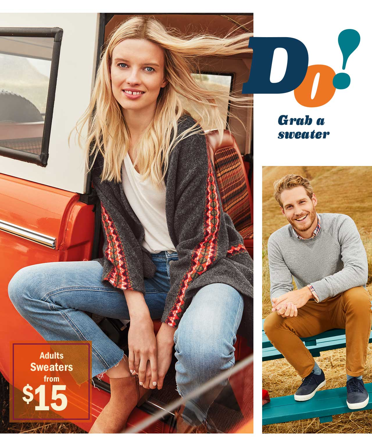 Do! Grab a sweater | Adults Sweaters from $15