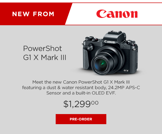 Canon PowerShot G1 X Mark III Digital Point & Shoot Camera