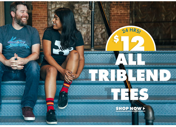 All Triblend Tees $12